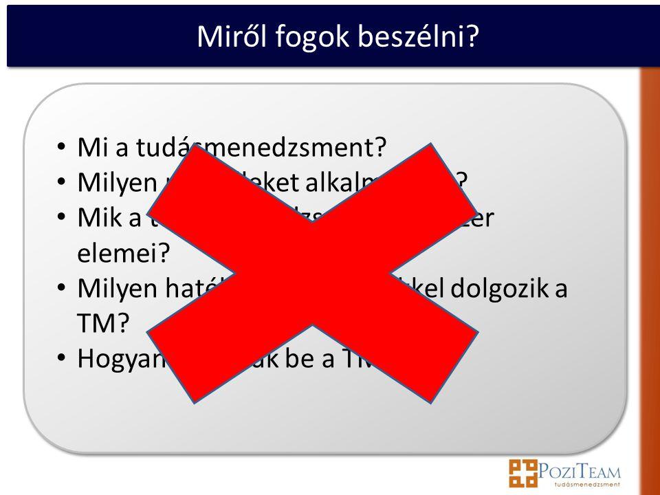Miről fogok beszélni valójában.• Mi a helyzet Magyarországon a TM körül.