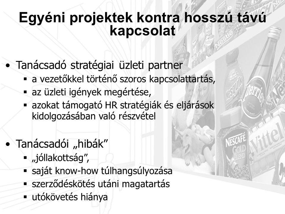 3.3 Javadalmazási struktúra •Tanácsadó stratégiai üzleti partner  a vezetőkkel történő szoros kapcsolattartás,  az üzleti igények megértése,  azoka
