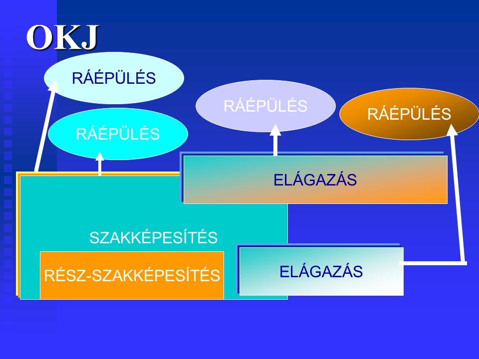 OKJ SZAKKÉPESÍTÉS RÉSZ-SZAKKÉPESÍTÉS ELÁGAZÁS RÁÉPÜLÉS