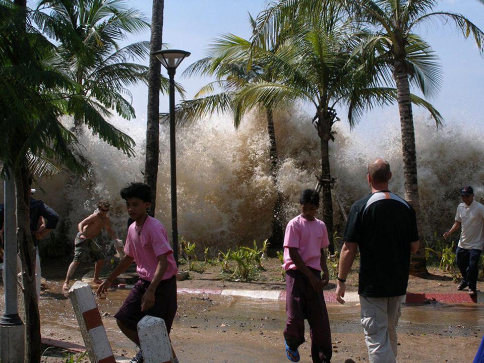A partra lecsapó víz elöntötte az utcákat, amelyek csatornaként árasztották el a belső lakott helyeket, víz alá téve a házakat, elsodorva az autókat,