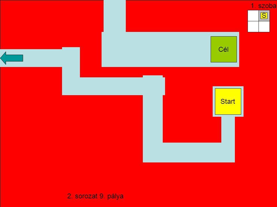 Start 9. pálya Ellenőrző pont Start Nehéz! (4 szobás) 45 98762. 1.213