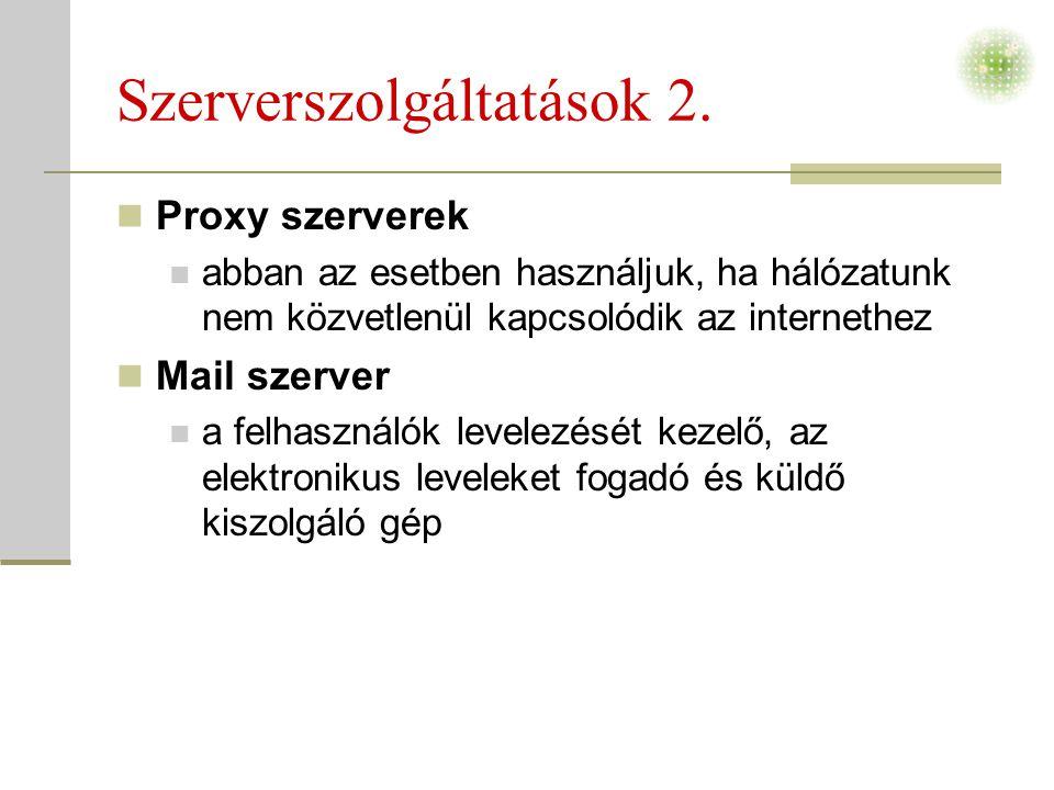 Szerverszolgáltatások 2.