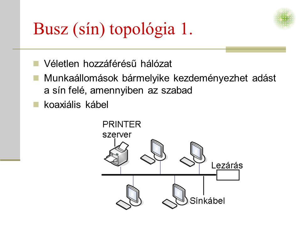 Busz (sín) topológia 1.