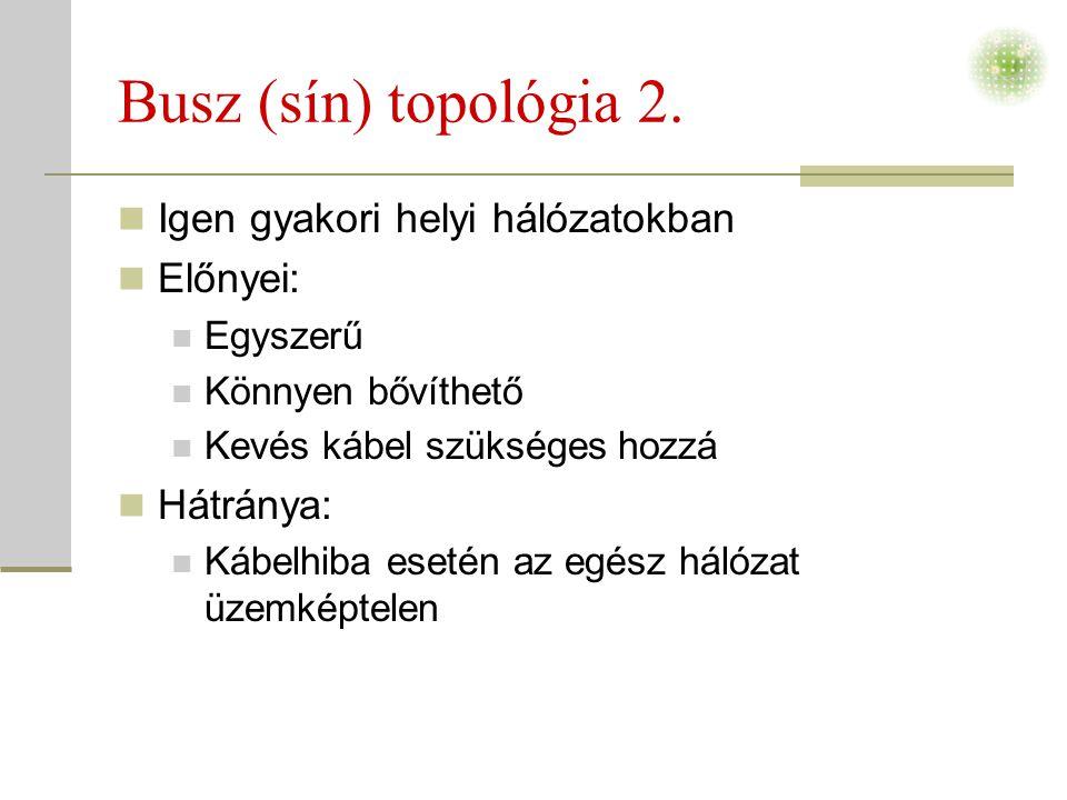 Busz (sín) topológia 2.