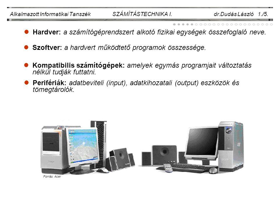 Alkalmazott Informatikai Tanszék SZÁMÍTÁSTECHNIKA I.