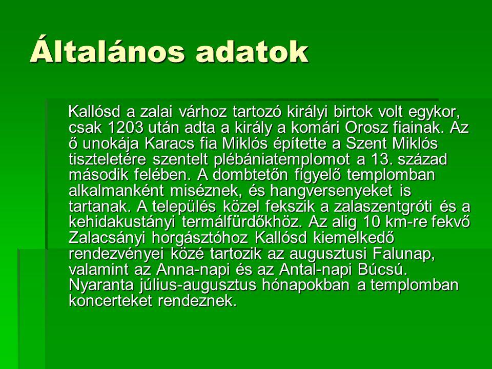 Általános adatok Régió Nyugat- Dunántúl MegyeZala Kistérség Zalaszent- gróti Rangközség Terület 5,42 km 2 Népesség kb. 150 fő Népsűrűség 19,22 fő/km 2