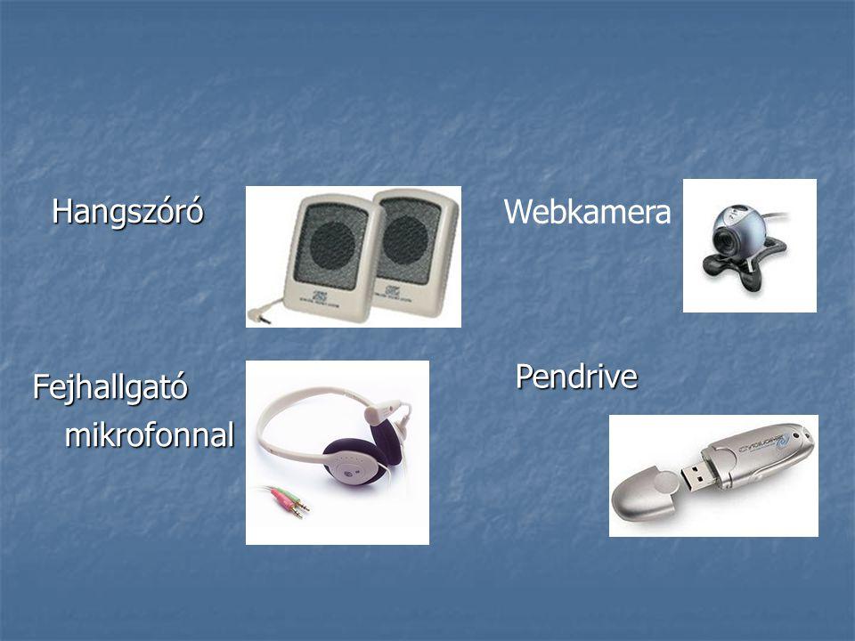 Hangszóró Fejhallgatómikrofonnal Webkamera Pendrive