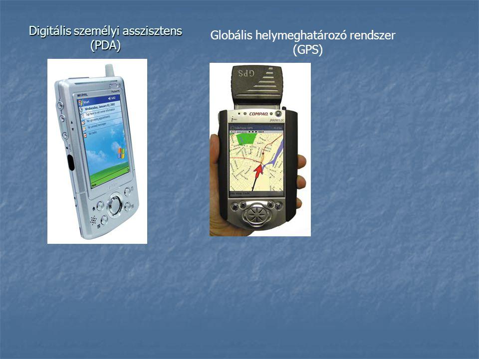 Digitális személyi asszisztens (PDA) Globális helymeghatározó rendszer (GPS)
