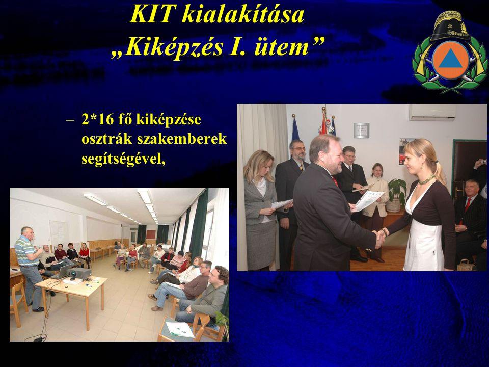 """KIT kialakítása """"Kiképzés I. ütem –2*16 fő kiképzése osztrák szakemberek segítségével,"""