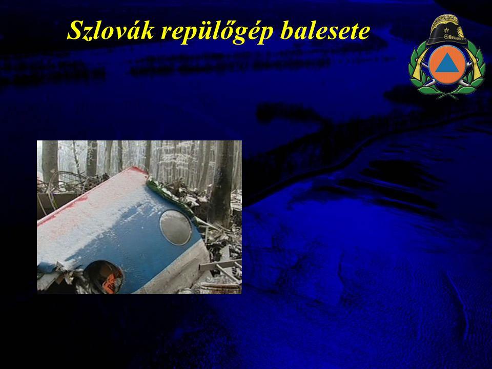 Szlovák repülőgép balesete
