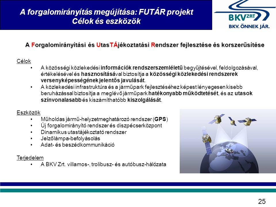A Forgalomirányítási és UtasTÁjékoztatási Rendszer fejlesztése és korszerűsítése Célok •A közösségi közlekedési információk rendszerszemléletű begyűjt