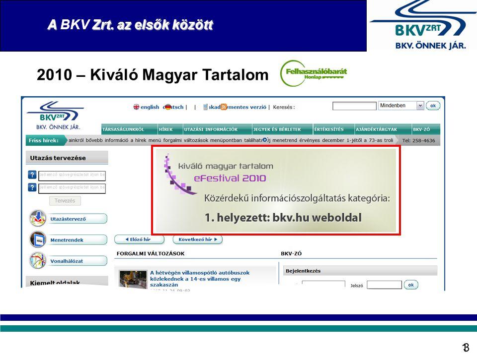 13 2010 – Kiváló Magyar Tartalom