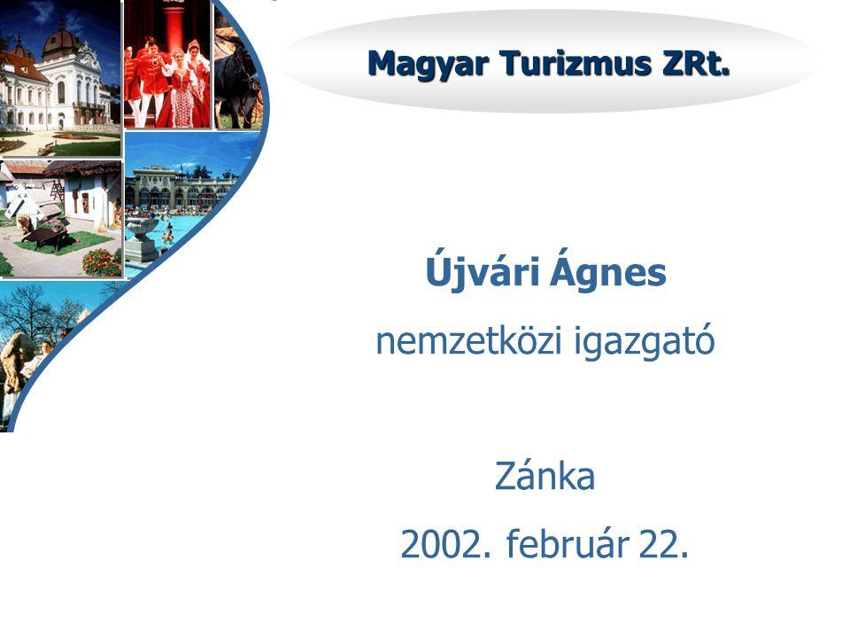 Magyar Turizmus ZRt. Újvári Ágnes nemzetközi igazgató Zánka 2002. február 22.