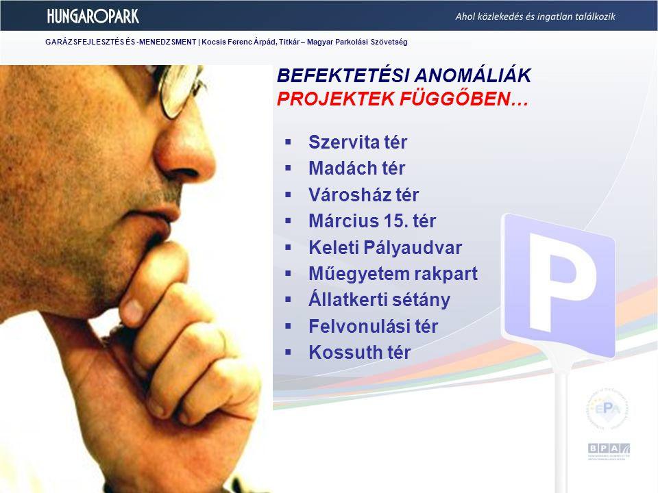 GARÁZSFEJLESZTÉS ÉS -MENEDZSMENT | Kocsis Ferenc Árpád, Titkár – Magyar Parkolási Szövetség 2011.09.20.