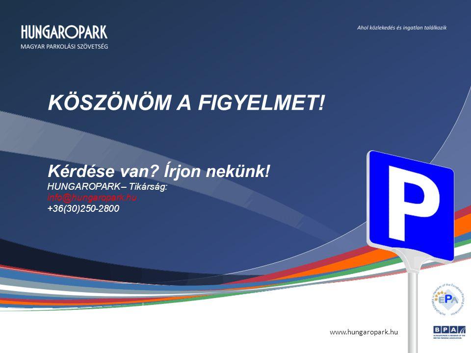 www.hungaropark.hu KÖSZÖNÖM A FIGYELMET. Kérdése van.
