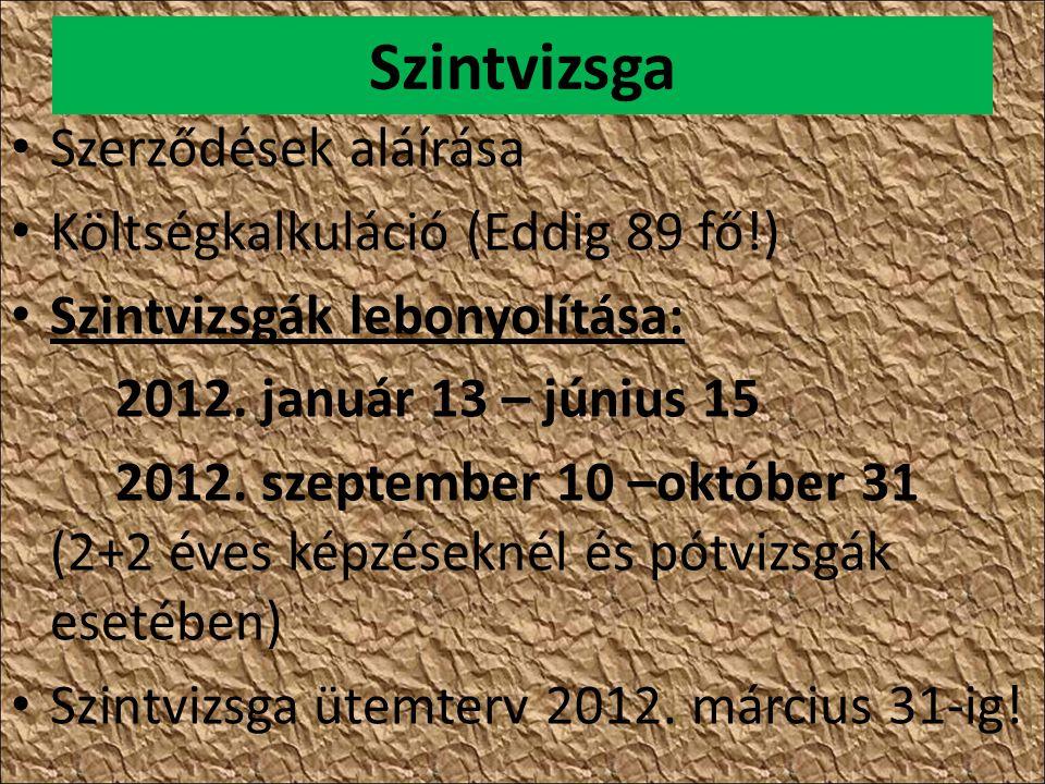 Nyilvántartó szerv a kamara: TSZ + EM 2012.09.