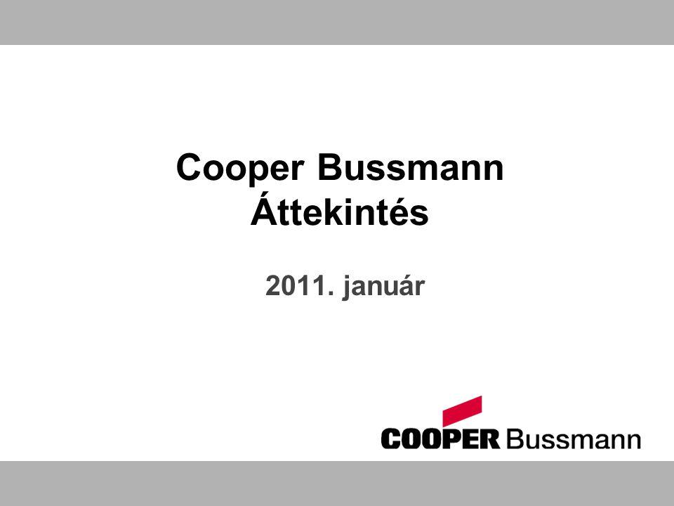 Cooper Bussmann Áttekintés 2011. január