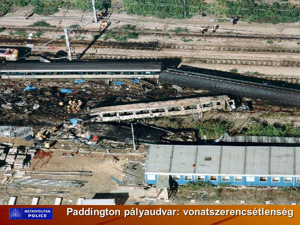 Paddington pályaudvar: vonatszerencsétlenség