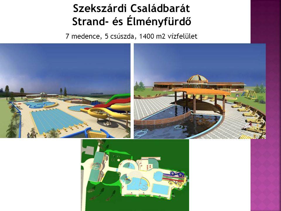 Szekszárdi Családbarát Strand- és Élményfürdő 7 medence, 5 csúszda, 1400 m2 vízfelület