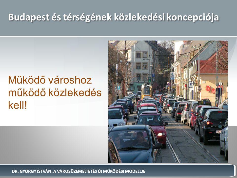 Budapest és térségének közlekedési koncepciója Működő városhoz működő közlekedés kell! DR. GYÖRGY ISTVÁN: A VÁROSÜZEMELTETÉS ÚJ MŰKÖDÉSI MODELLJE