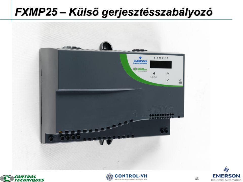 46 FXMP25 – Külső gerjesztésszabályozó