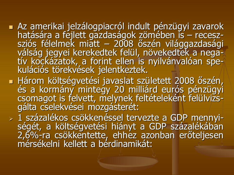 C) A közalkalmazotti illetménytábla bértételei forintban (Ft/hó) A 321/2008.