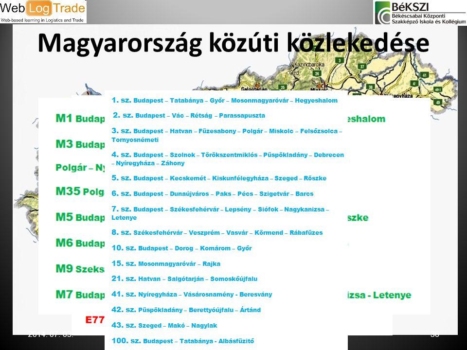 Magyarország közúti közlekedése 2014. 07. 03.36