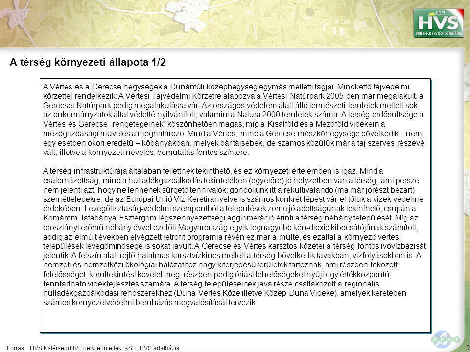 9 A Vértes és a Gerecse hegységek a Dunántúli-középhegység egymás melletti tagjai. Mindkettő tájvédelmi körzettel rendelkezik: A Vértesi Tájvédelmi Kö