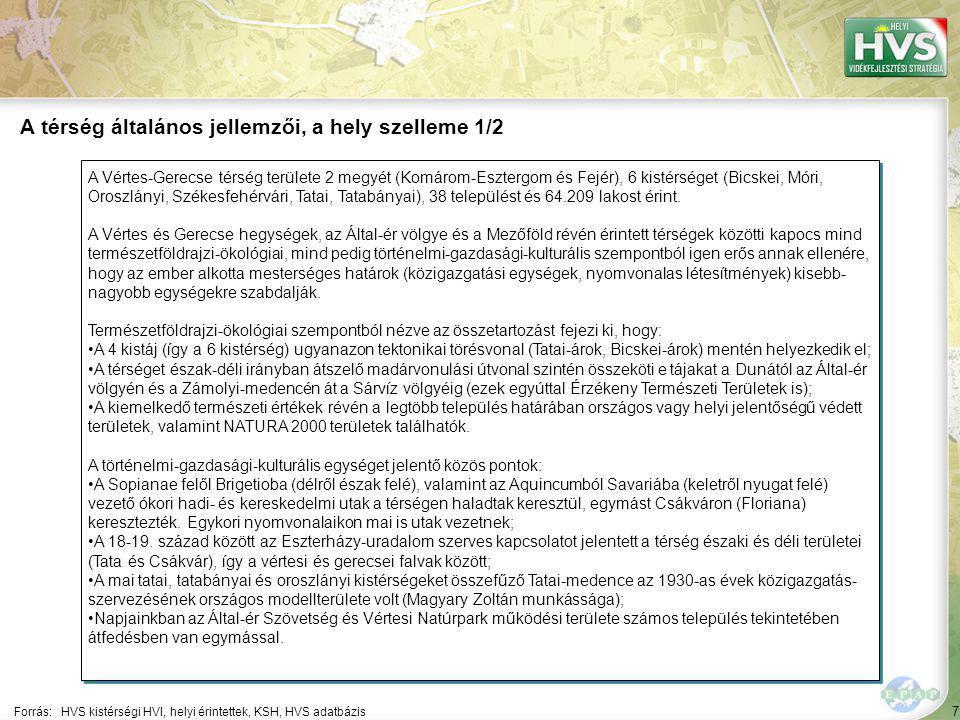 7 A Vértes-Gerecse térség területe 2 megyét (Komárom-Esztergom és Fejér), 6 kistérséget (Bicskei, Móri, Oroszlányi, Székesfehérvári, Tatai, Tatabányai