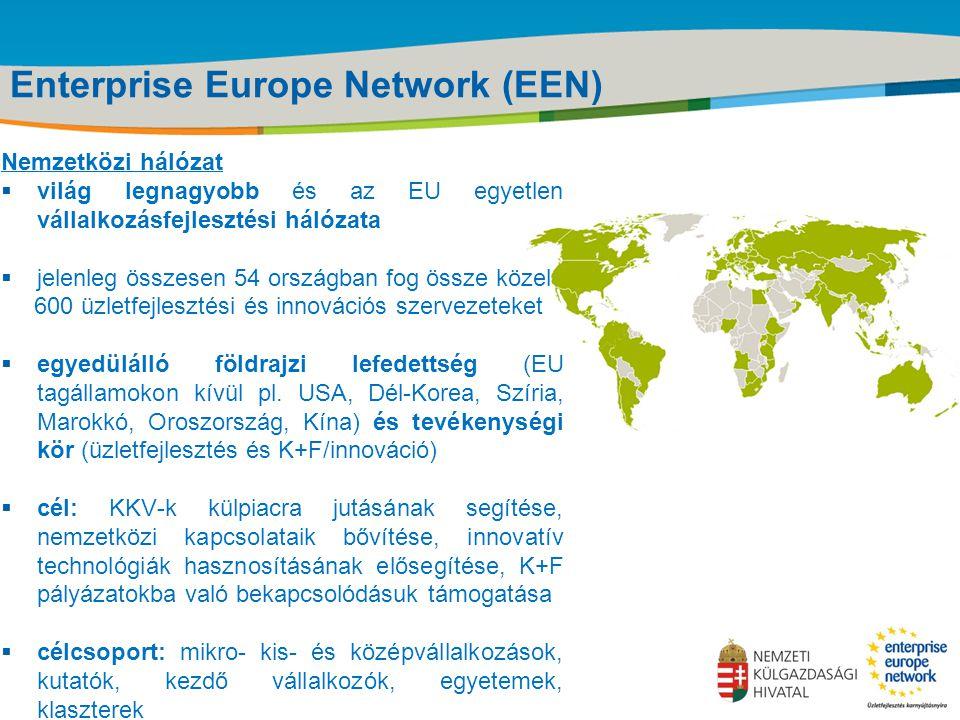 Title of the presentation | Date |‹#› Enterprise Europe Network (EEN) Nemzetközi hálózat  világ legnagyobb és az EU egyetlen vállalkozásfejlesztési h