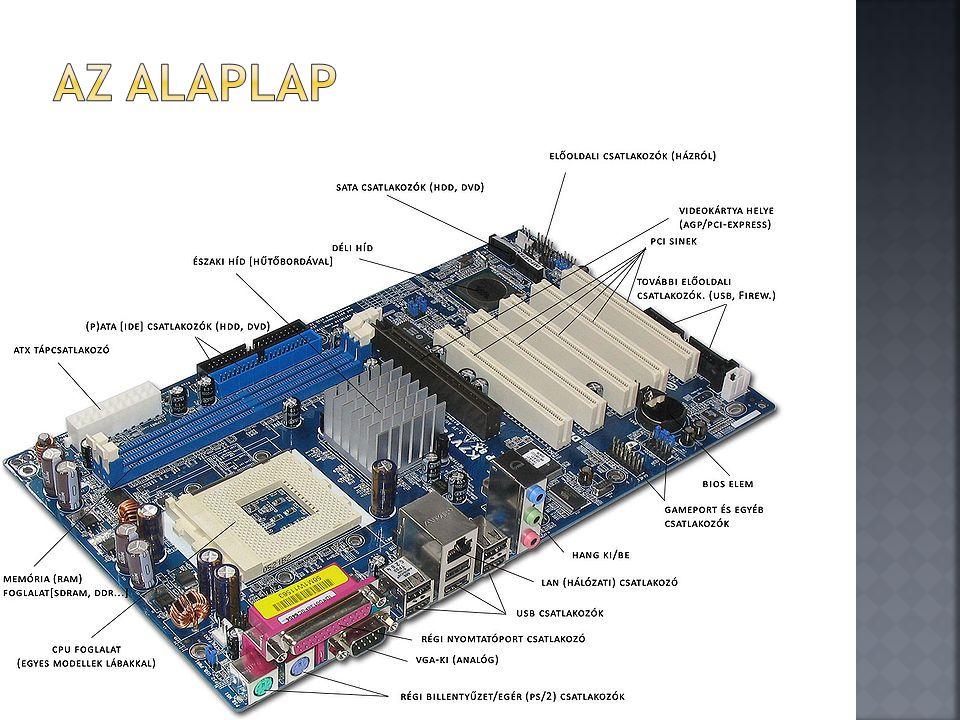  A CPU (angol: Central Processing Unit – központi feldolgozóegység) más néven processzor ill.