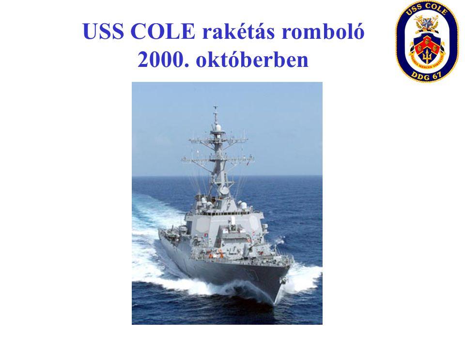 USS COLE rakétás romboló 2000. októberben