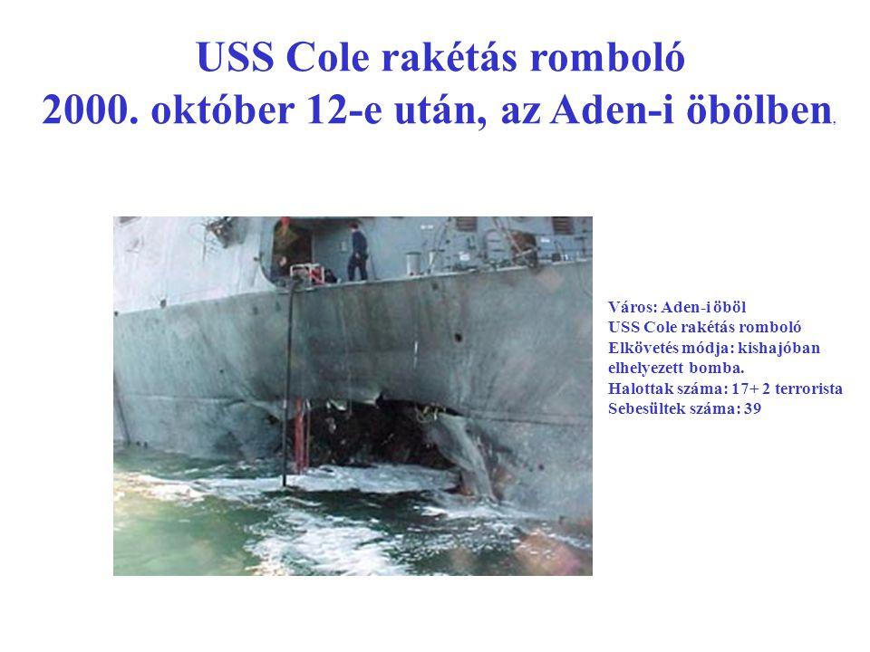 USS Cole rakétás romboló 2000.