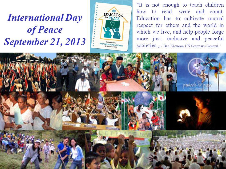 Nemzetközi Béke Nap 2013.