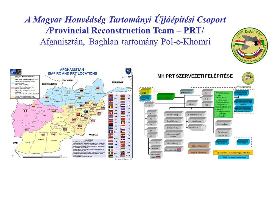A Magyar Honvédség Tartományi Újjáépítési Csoport /Provincial Reconstruction Team – PRT/ Afganisztán, Baghlan tartomány Pol-e-Khomri