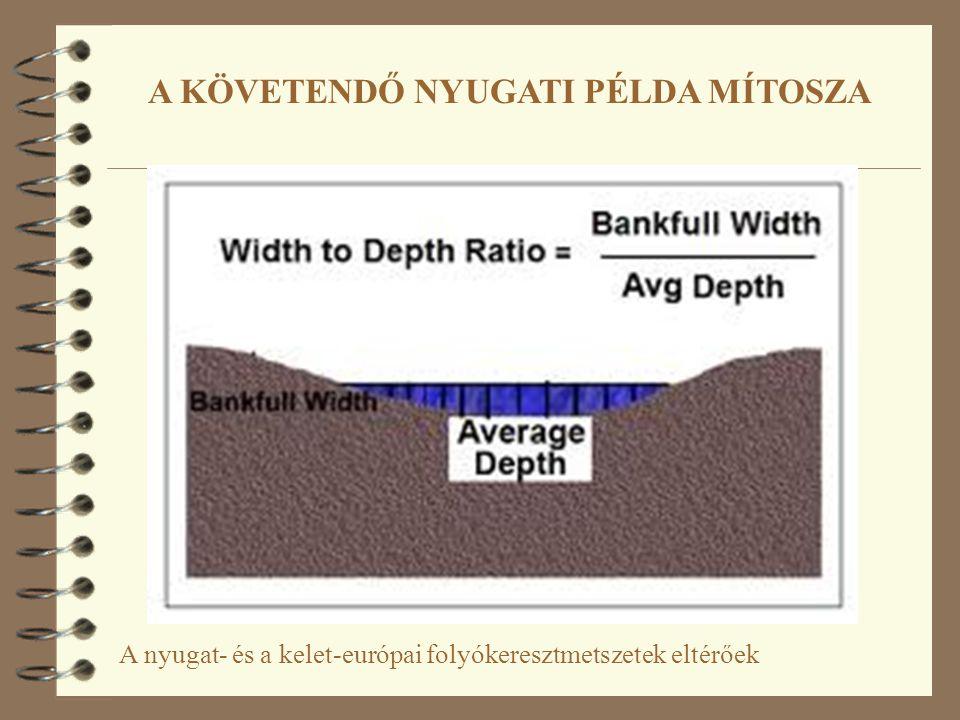 A nyugat- és a kelet-európai folyókeresztmetszetek eltérőek A KÖVETENDŐ NYUGATI PÉLDA MÍTOSZA