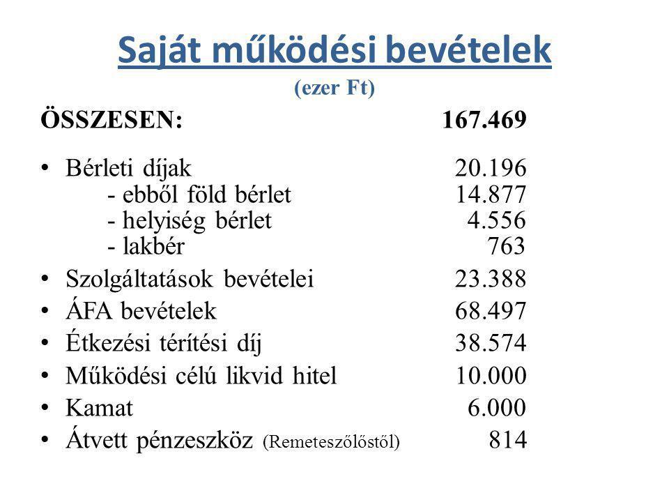 Német Nemzetiségi Önkormányzat kiadásai és bevételei (ezer Ft) KIADÁSOK ÖSSZESEN: 214 – Működési (dologi) kiadások: 214