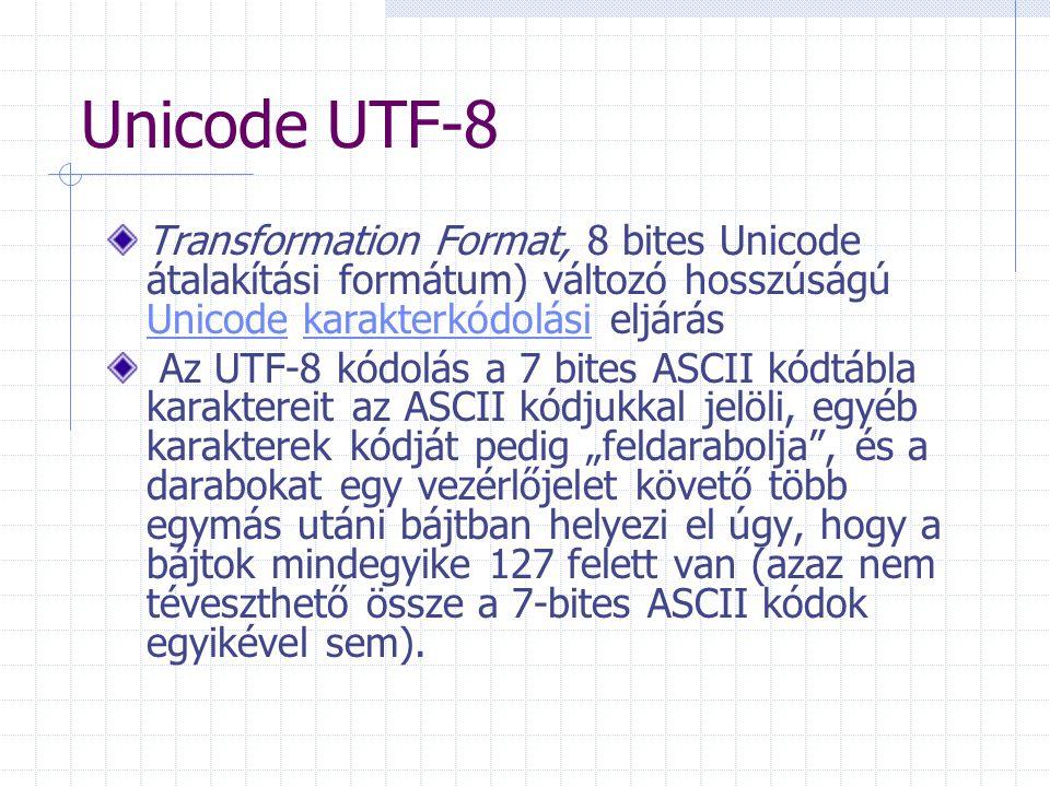 Informatikai alapfogalmak ASCII kódrendszer: A merican S tandard C ode for I nformation I nterchange ) pl. 01000001=A (65), 00111001=9 (57)