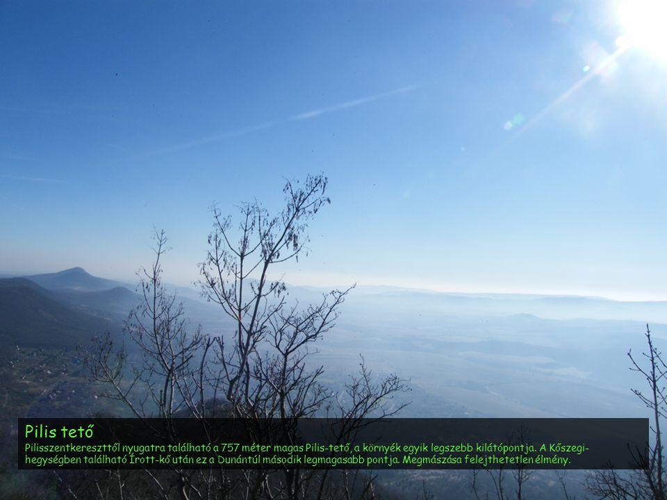 Pilis tető Pilisszentkereszttől nyugatra található a 757 méter magas Pilis-tető, a környék egyik legszebb kilátópontja. A Kőszegi- hegységben találhat