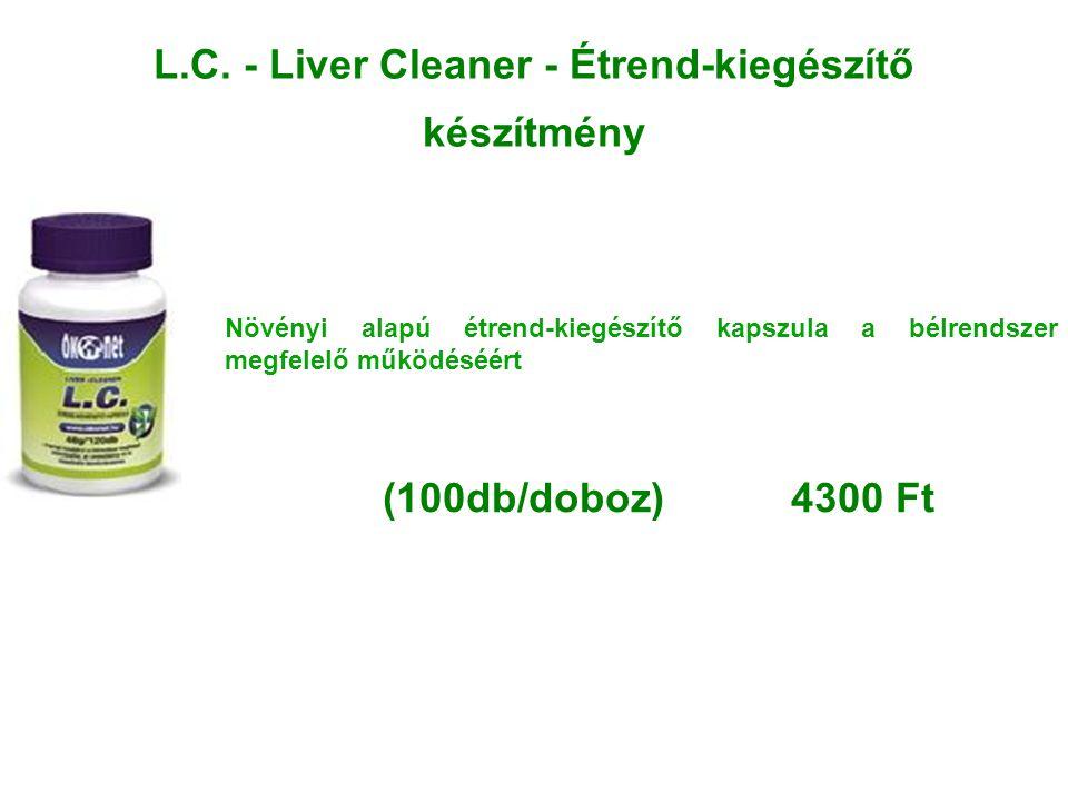 L.C. - Liver Cleaner - Étrend-kiegészítő készítmény Növényi alapú étrend-kiegészítő kapszula a bélrendszer megfelelő működéséért (100db/doboz) 4300 Ft
