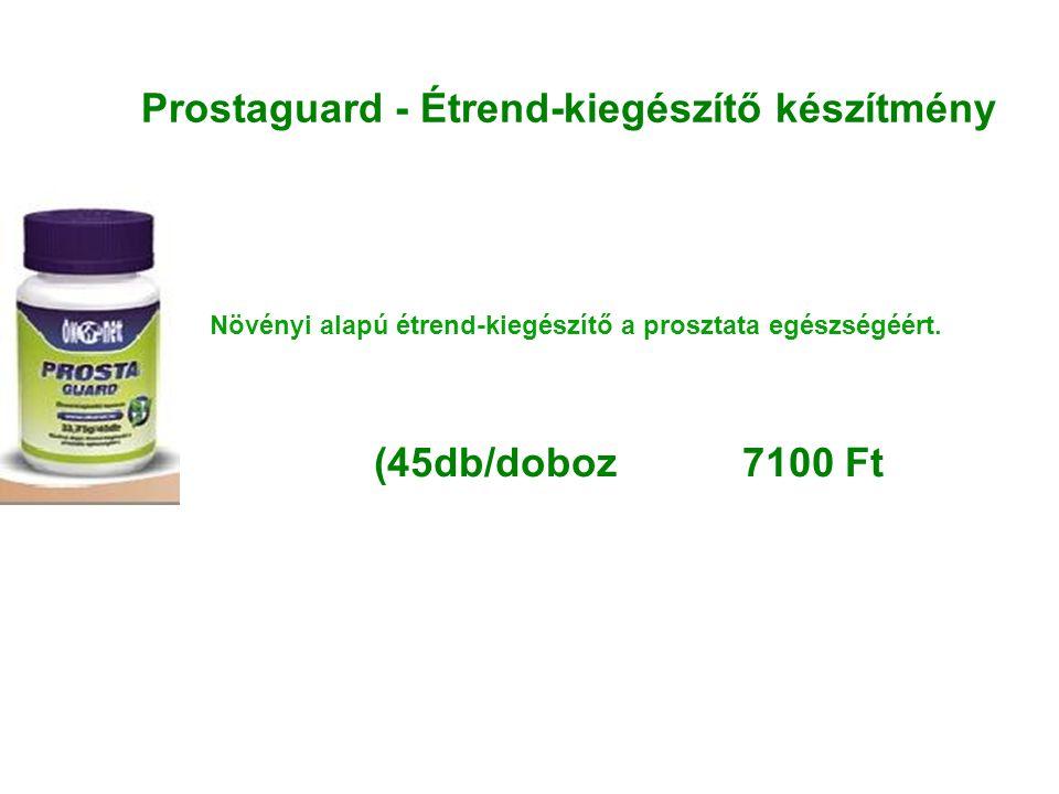 Prostaguard - Étrend-kiegészítő készítmény Növényi alapú étrend-kiegészítő a prosztata egészségéért. (45db/doboz 7100 Ft