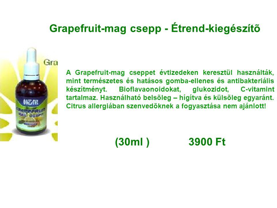 Grapefruit-mag csepp - Étrend-kiegészítõ A Grapefruit-mag cseppet évtizedeken keresztül használták, mint természetes és hatásos gomba-ellenes és antib