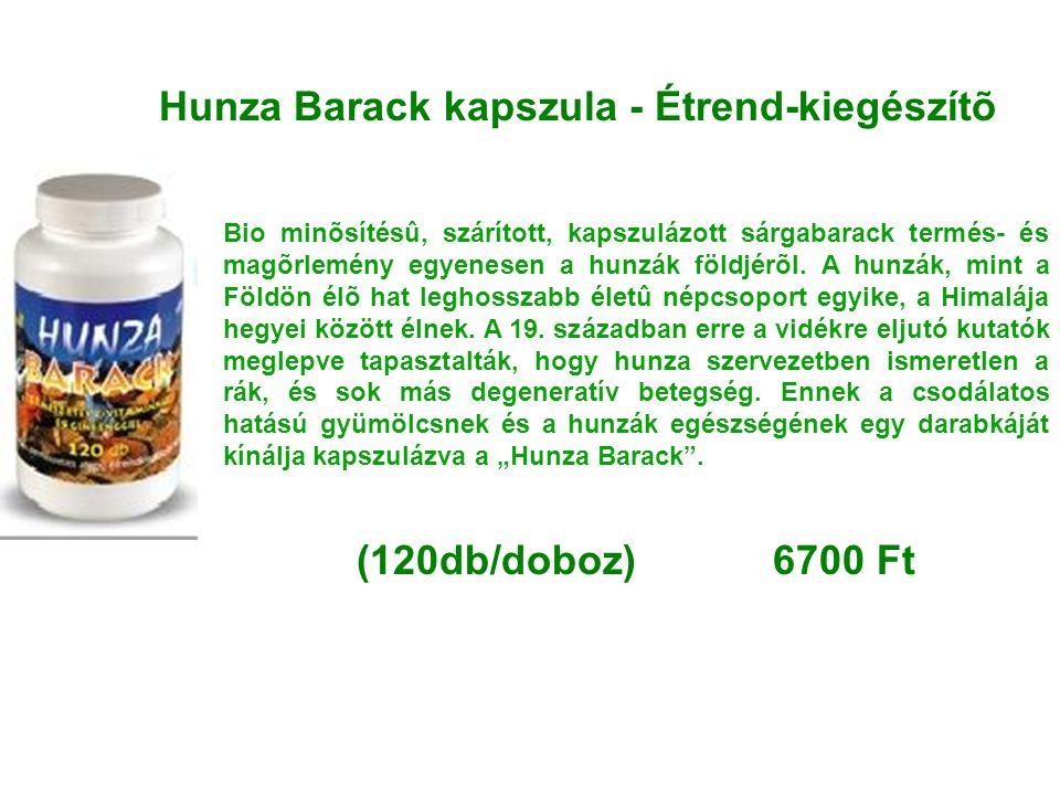 Hunza Barack kapszula - Étrend-kiegészítõ Bio minõsítésû, szárított, kapszulázott sárgabarack termés- és magõrlemény egyenesen a hunzák földjérõl. A h