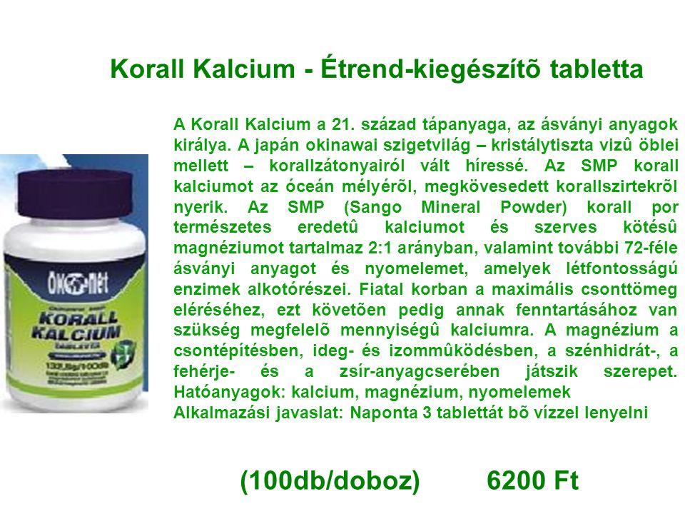 Korall Kalcium - Étrend-kiegészítõ tabletta A Korall Kalcium a 21. század tápanyaga, az ásványi anyagok királya. A japán okinawai szigetvilág – kristá