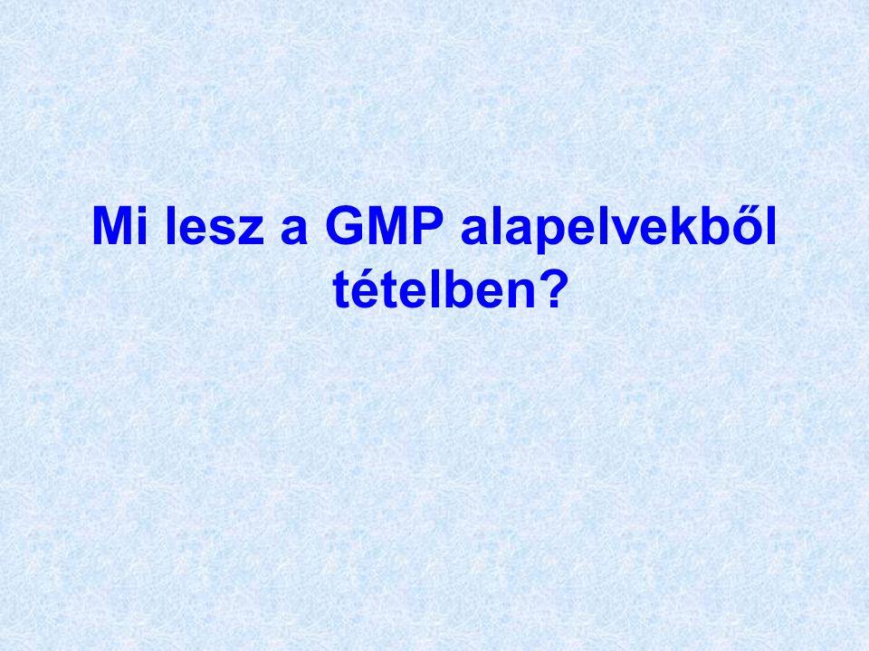 Mi lesz a GMP alapelvekből tételben?