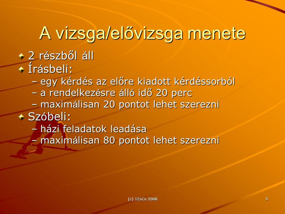 (c) JZsCs 2008 26 Osztályozás kezelhetőség szerint Kézben tartható (irányítható): a faktor bármely értelmezési tartományon belüli értéke beállítható különösebb anyagi vagy műszaki jellegű nehézség nélkül, és a kísérlet során állandó értéken tartható  aktív kísérletek Nem kézben tartható (Taguchi: zajfaktor): a faktor értelmezési tartományon belüli bármely értékeinek beállítása gazdasági, műszaki vagy más jellegű nehézségbe ütközik vagy megoldhatatlan  passzív kísérletek