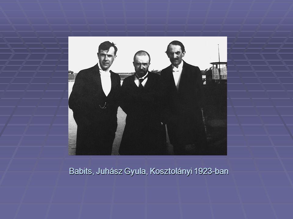 Babits, Juhász Gyula, Kosztolányi 1923-ban