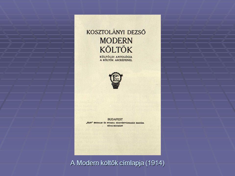 A Modern költők címlapja (1914)
