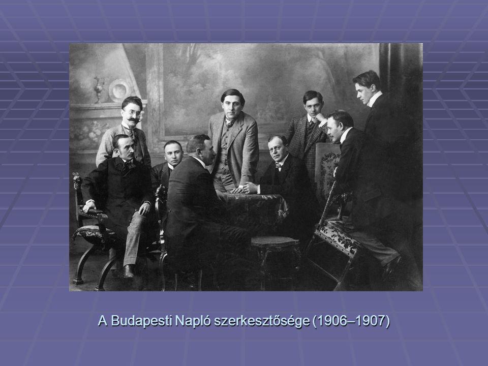 A Budapesti Napló szerkesztősége (1906–1907)