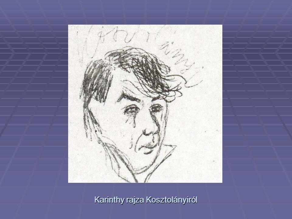 Karinthy rajza Kosztolányiról